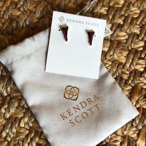 Kendra Scott Honor Gold/Bordeaux Tiger Eye